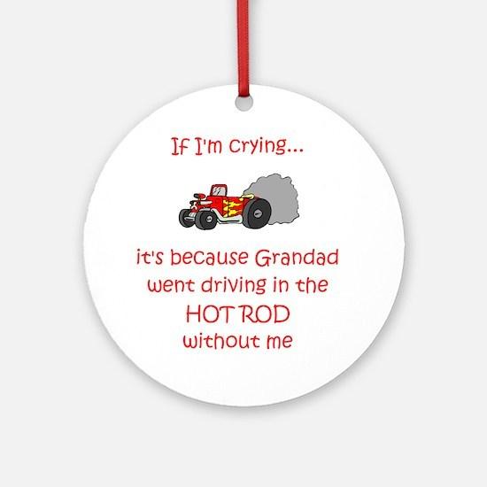 Hot Rod Cry - Grandad Ornament (Round)