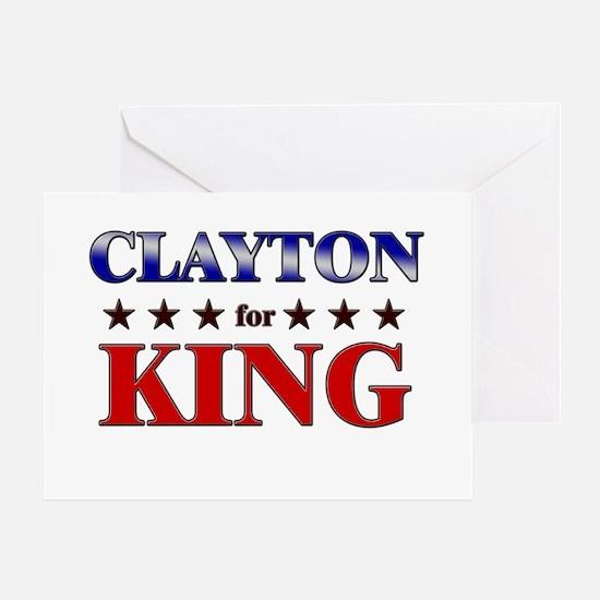 CLAYTON for king Greeting Card