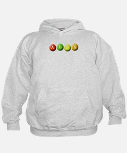 (Any name) spelled in M&Ms Hoodie