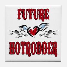 Future Hotrodder Red Tile Coaster