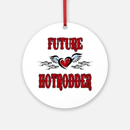 Future Hotrodder Red Ornament (Round)
