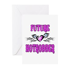 Future Hotrodder Pink Greeting Cards (Pk of 20)
