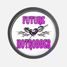 Future Hotrodder Pink Wall Clock