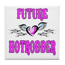 Future Hotrodder Pink Tile Coaster