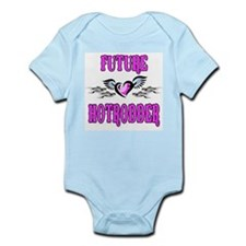 Future Hotrodder Pink Infant Bodysuit