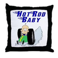 Hot Rod Baby Blue Throw Pillow