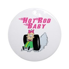 Hot Rod Baby Pink Ornament (Round)