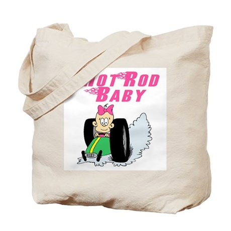 Hot Rod Baby Pink Tote Bag