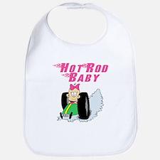 Hot Rod Baby Pink Bib