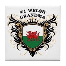 Number One Welsh Grandma Tile Coaster