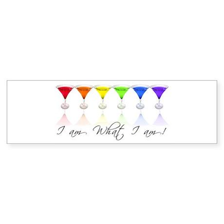 rainbow martinis Bumper Sticker