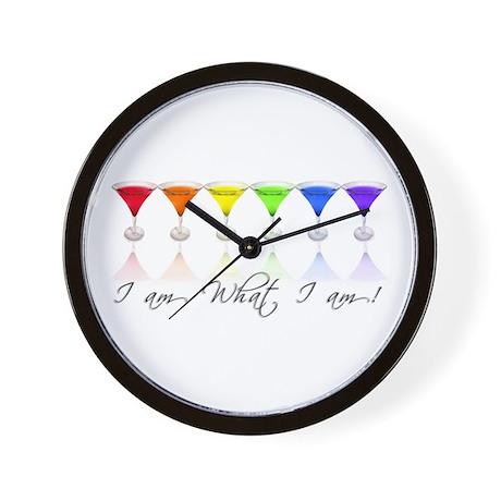 rainbow martinis Wall Clock
