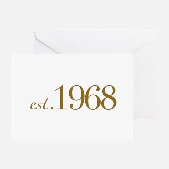 Est. 1968 (40th B-Day) Greeting Card