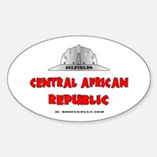 Central African Republic Oilf Oval Decal