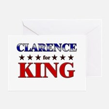 CLARENCE for king Greeting Card