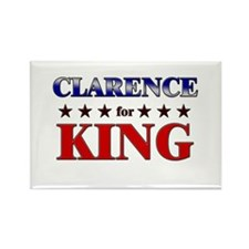 CLARENCE for king Rectangle Magnet