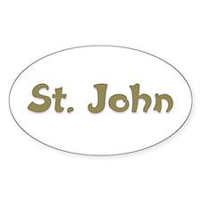 St. John Oval Decal