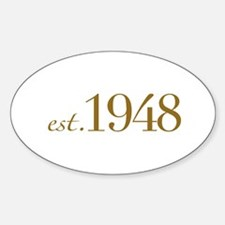 Est. 1948 (60th Birthday) Oval Decal
