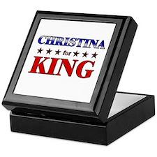 CHRISTINA for king Keepsake Box