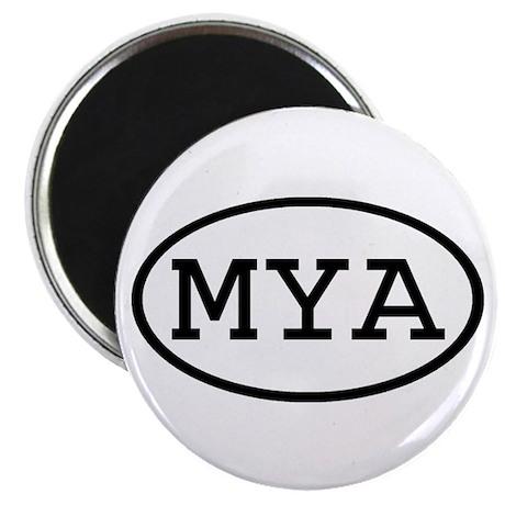 "MYA Oval 2.25"" Magnet (100 pack)"