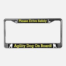 Poodle Agility Dog License Plate Frame