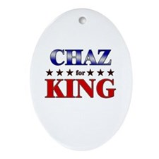 CHAZ for king Oval Ornament