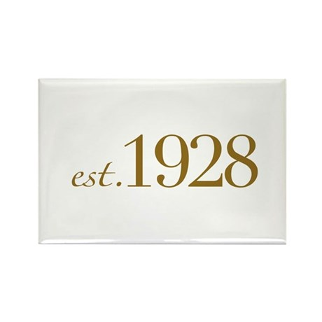 Est. 1928 (80th Birthday) Rectangle Magnet