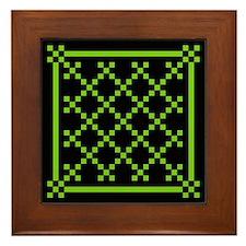 mod irish quilt Framed Tile