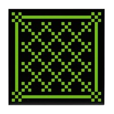 mod irish quilt Tile Coaster