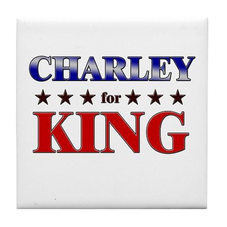 CHARLEY for king Tile Coaster
