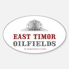 East Timor Oilfields Oval Decal