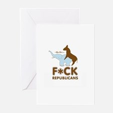 Fuck Republicans ~ Greeting Cards (Pk of 10)