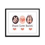 Peace Love Ballet Ballerina Framed Panel Print