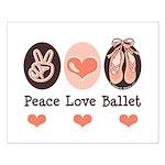 Peace Love Ballet Ballerina Small Poster