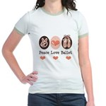 Peace Love Ballet Ballerina Jr. Ringer T-Shirt