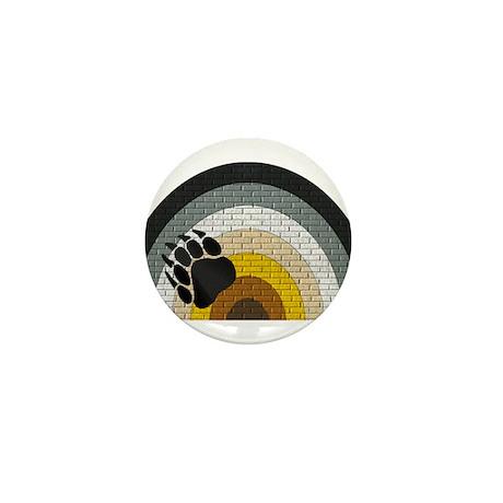 BEAR PRIDE RAINBOW/BRICK Mini Button