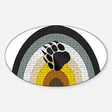 BEAR PRIDE RAINBOW/BRICK--- Oval Decal