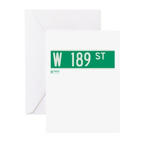 189th Street in NY Greeting Cards (Pk of 10)