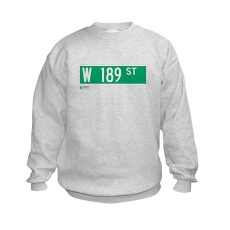189th Street in NY Kids Sweatshirt