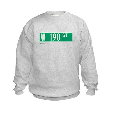 190th Street in NY Kids Sweatshirt