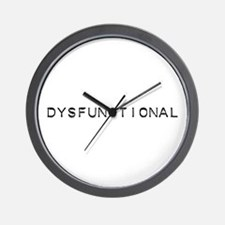 Dysfunctional Design Wall Clock