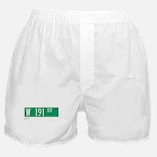 191st Street in NY Boxer Shorts