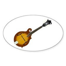 Just Mandolin Oval Decal