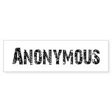 Anonymous Bumper Bumper Sticker