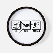Eat, Sleep, Baseball Wall Clock