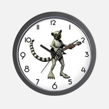 Lemur Guitar Wall Clock