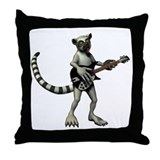 Lemur music Throw Pillows