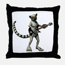 Lemur Guitar Throw Pillow
