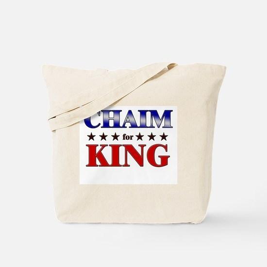 CHAIM for king Tote Bag
