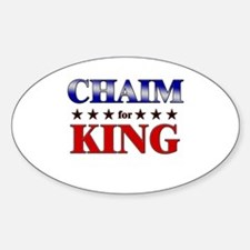 CHAIM for king Oval Decal